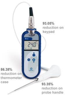 Biocote Antimicrobial Protection on Comark Hand-Held Thermometers
