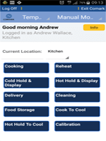 Comark Kitchen Checks App